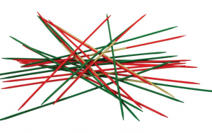 Pick up sticks is like agglomeration