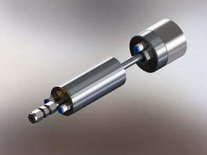 High temperature atomizer showing cooling ports.